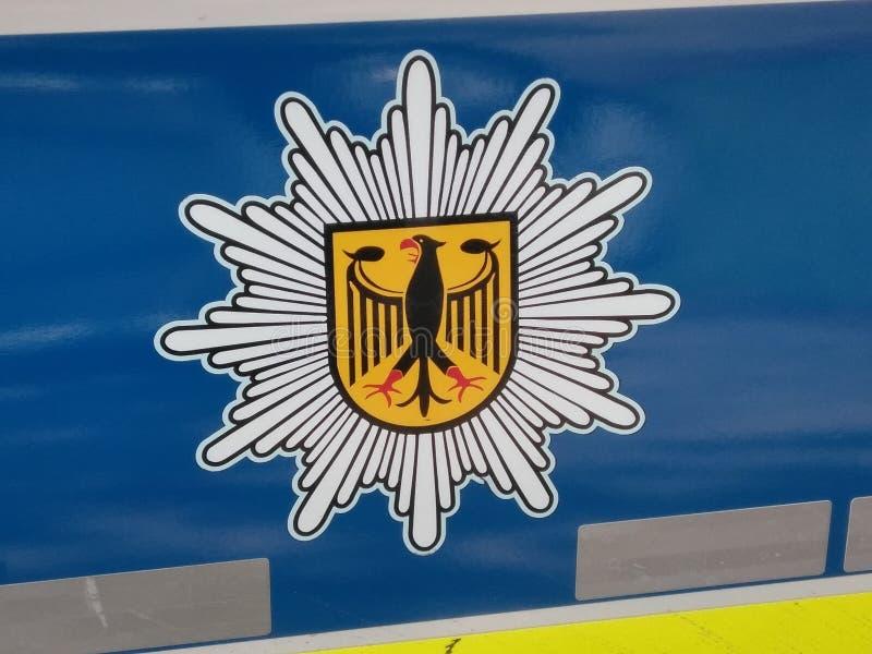 Bundespolizei, BPol, Teken, Duitsland stock afbeeldingen