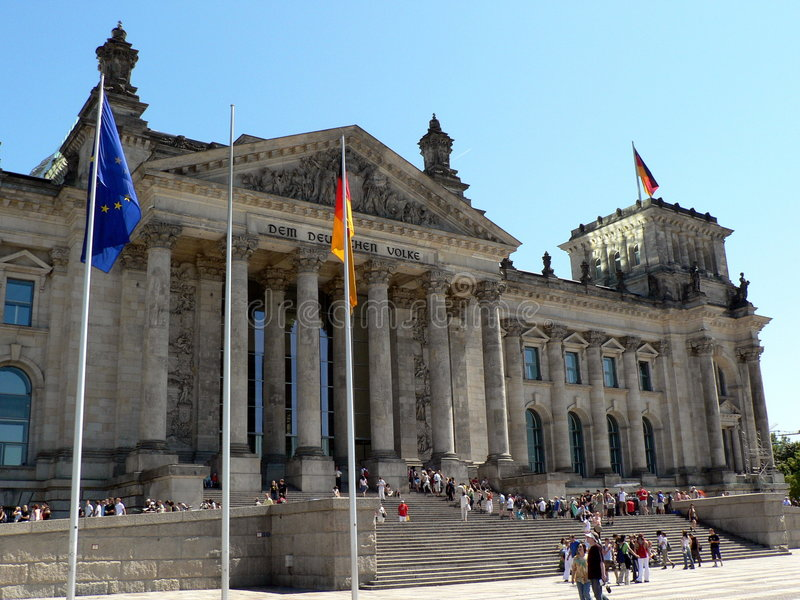 Bundestag fotografia stock libera da diritti