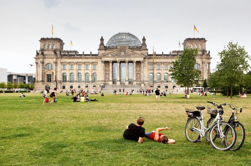 Bundestag royaltyfria bilder