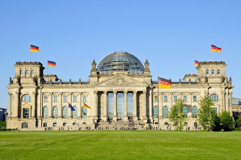 Bundestag in Berlijn royalty-vrije stock afbeeldingen