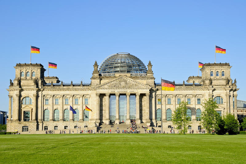 Bundestag em Berlim imagens de stock royalty free