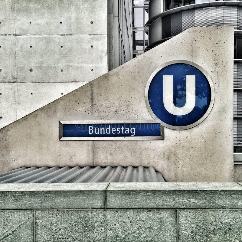 Bundestag Embleem op Cementmuur royalty-vrije stock fotografie