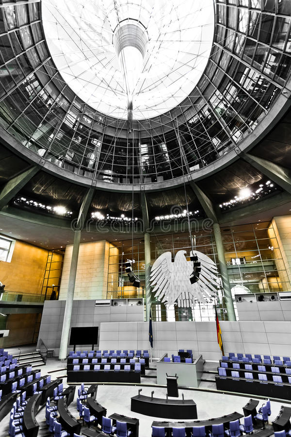Bundestag german parliament room Reichstag berlin royalty free stock photography