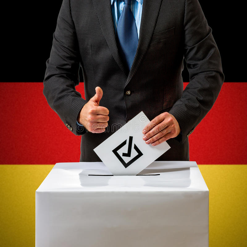 Bundestag verkiezing in Duitsland stock afbeelding