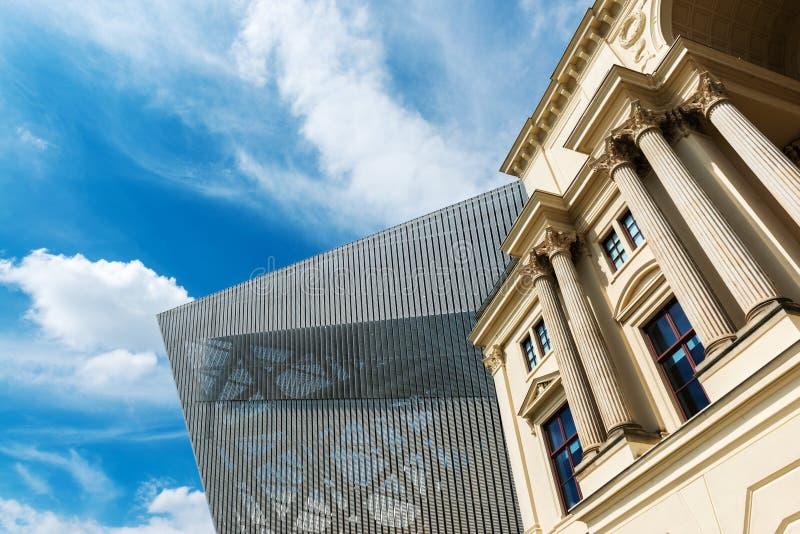Bundeswehr Militair Geschiedenismuseum in Dresden stock afbeelding