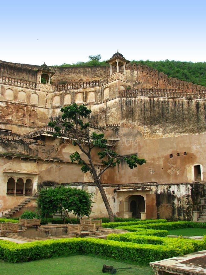 Bundi, Indien: Gärten von Palace des Maharadschas lizenzfreies stockbild