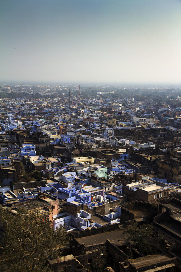 Bundi, Indien, von oben lizenzfreies stockbild