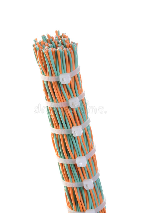 Download Bundle Of Cables With Cable Ties Royalty Free Stock Image - Image: 26601286