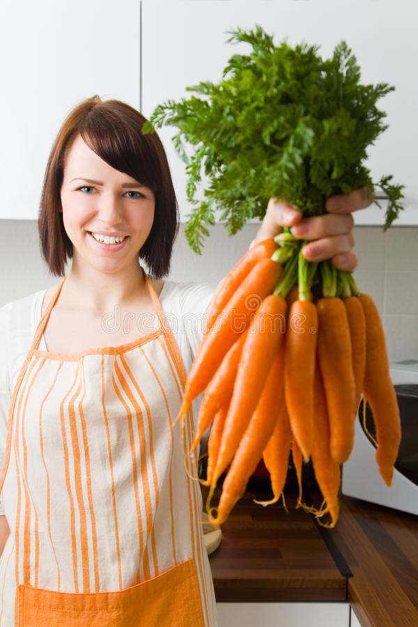 Bundle of carrots royalty free stock photo