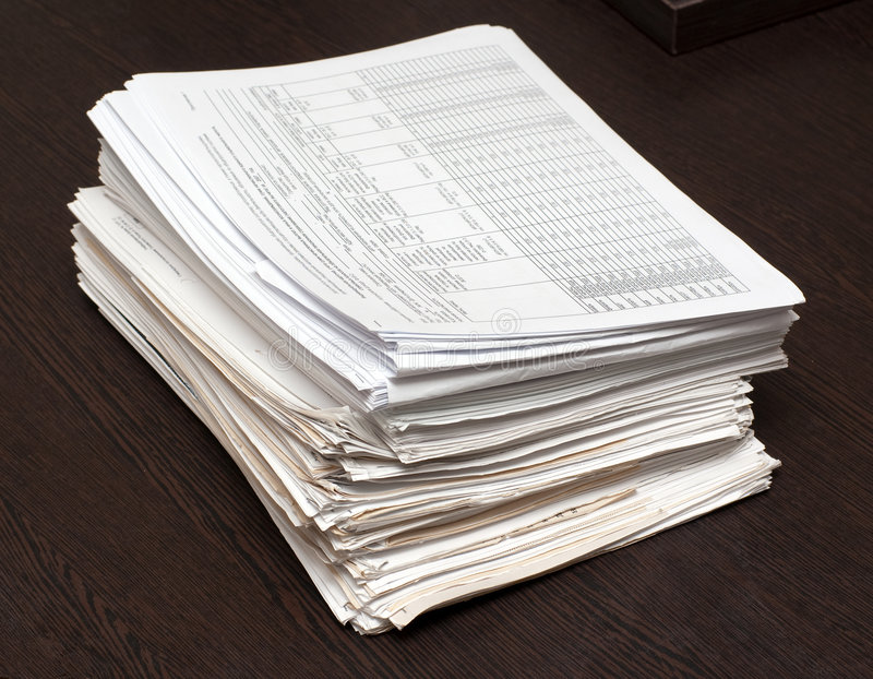 Download Bundle of documents stock image. Image of editorial, document - 8603657