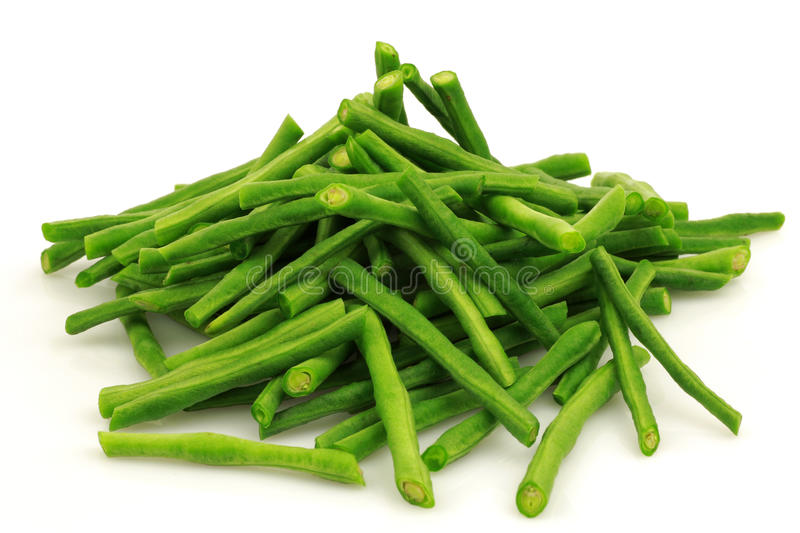 Bundle of fresh cut long beans royalty free stock photo