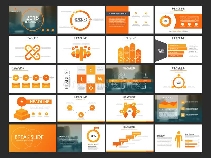 Bundle infographic elements presentation template. business annual report, brochure, leaflet, advertising flyer, corporate marketi. 20 Bundle infographic royalty free illustration