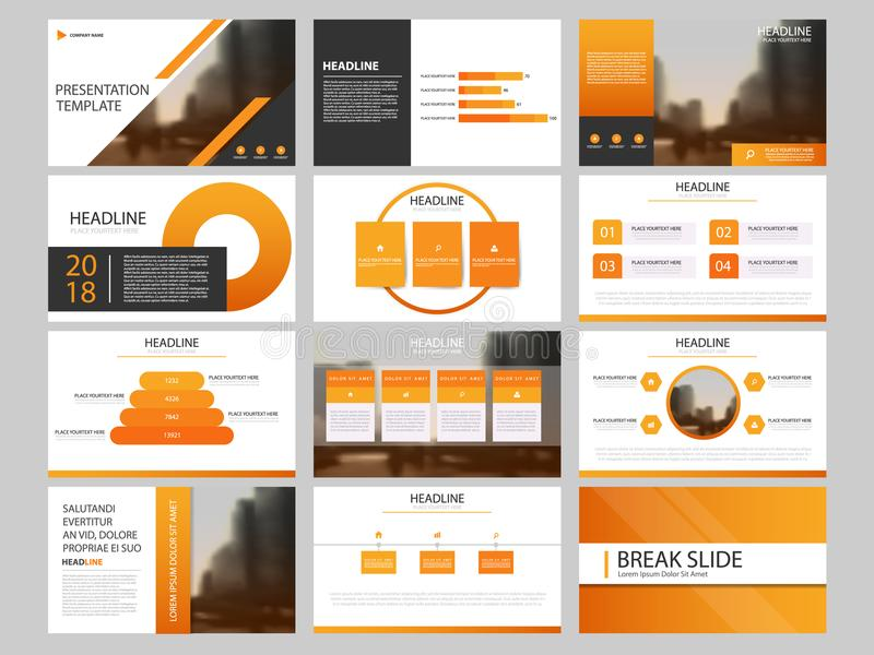 Bundle infographic elements presentation template. business annual report, brochure, leaflet, advertising flyer,. Corporate marketing banner stock illustration