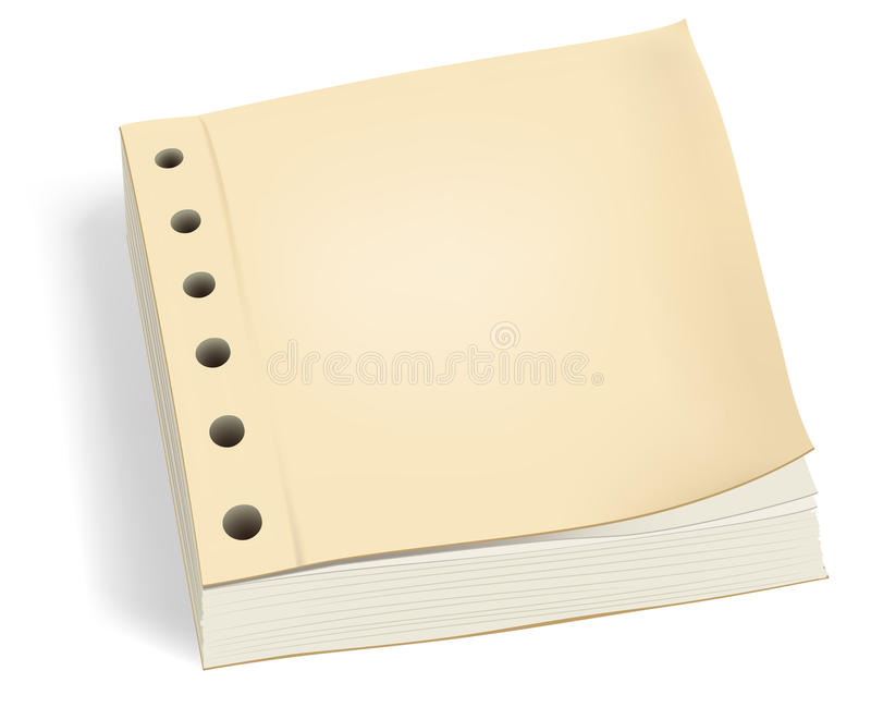 Bundle Of Paper With Holes Or Ledger Book Stock Images