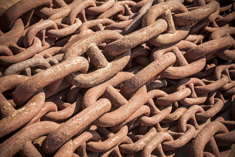 Download Bundle Of Rusty Naval Chain Stock Photo - Image: 27292624
