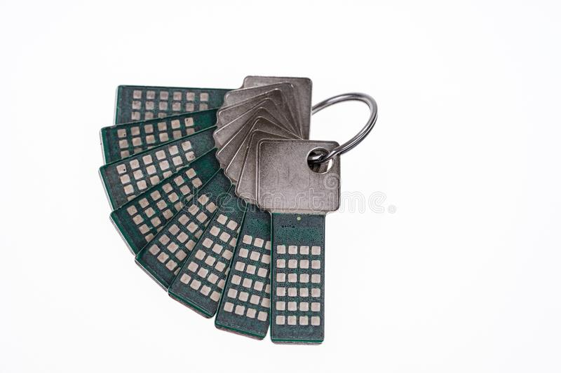 Bundle with security keys royalty free stock image