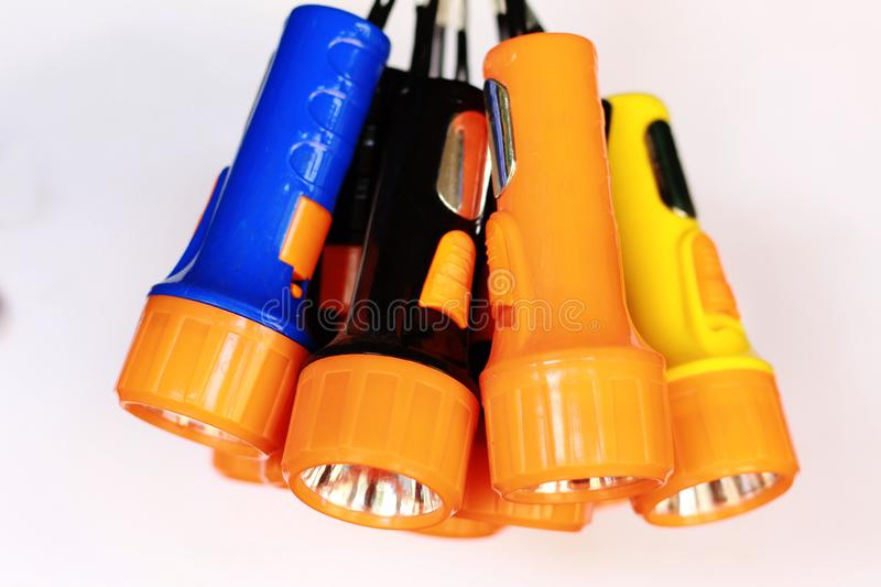 Bundle of torch light with white background royalty free stock images