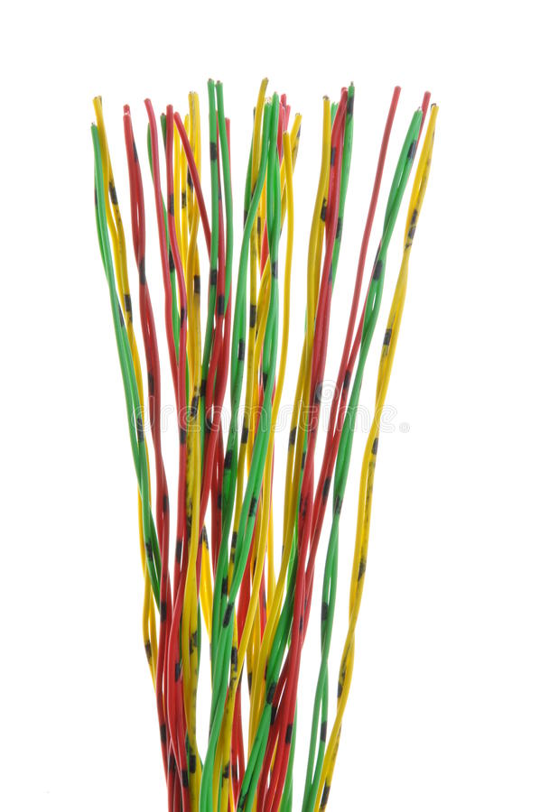 Download Bundle Of Yellow Red And Green Cables Stock Image - Image: 26459427