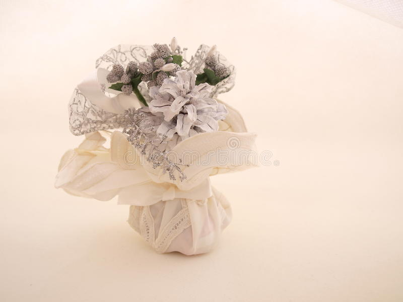 Bundled White Wedding Favor Candy Two Stock Photos