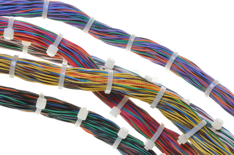 Download Bundles of network cables stock image. Image of green - 26079599