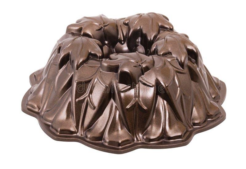Bundt蛋糕盘子 被吹奏的管平底锅 隔绝与裁减路线 图库摄影