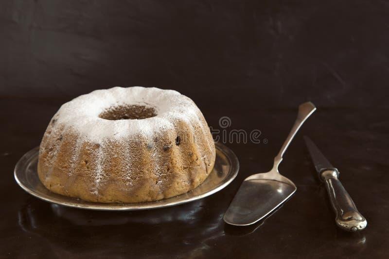 Bundt cake royaltyfria bilder