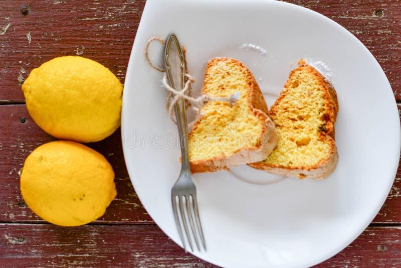 Bundt citronkaka royaltyfri fotografi