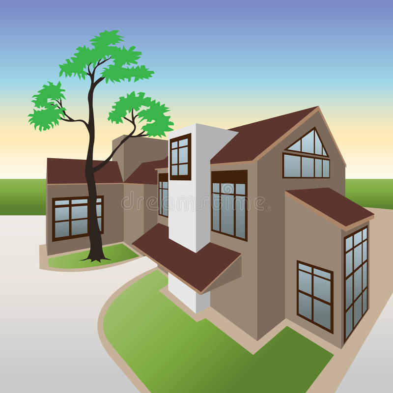 Bungalow vector illustratie