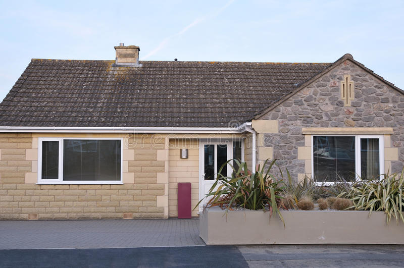 Bungalow Exterior. Exterior Detail of a Bungalow Home and Forecourt royalty free stock image