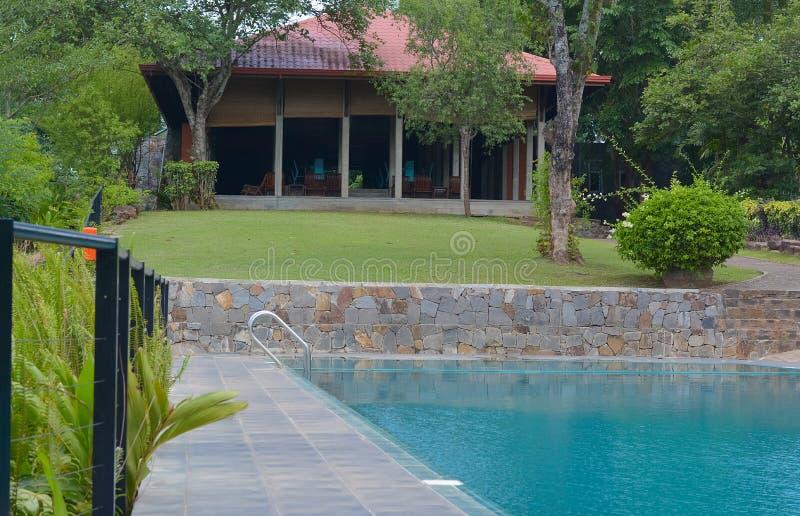 Bungalow för Victoria områdeferie i Kandy royaltyfri foto