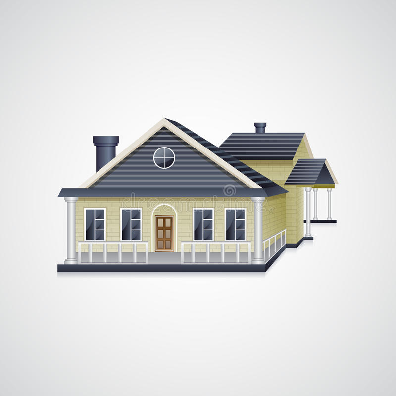 Bungalow House. Easy to edit vector illustration of real estate bungalow house vector illustration