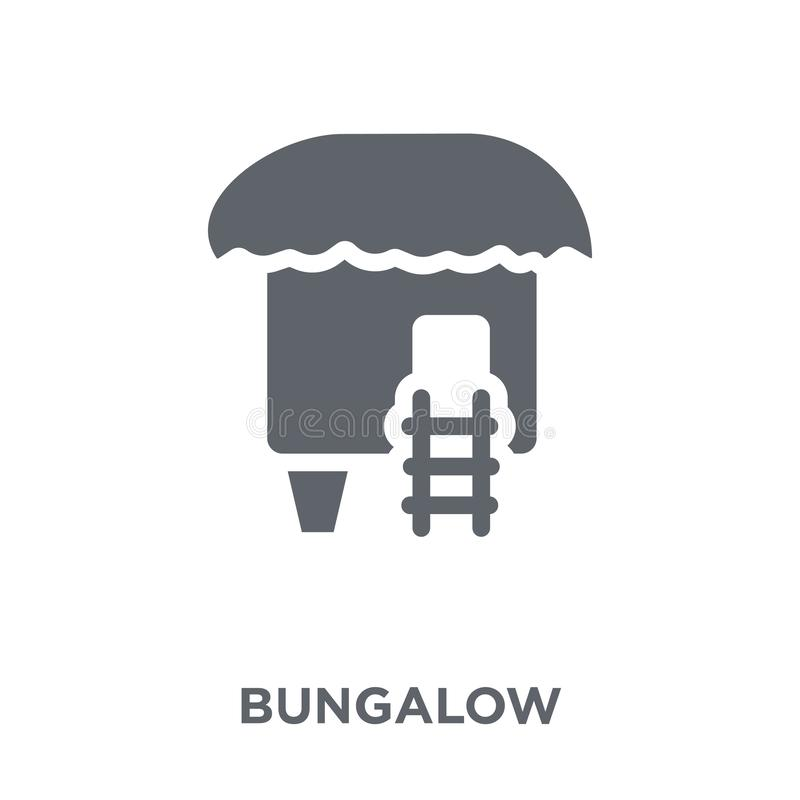 Bungalow icon from collection. Bungalow icon. Bungalow design concept from collection. Simple element vector illustration on white background vector illustration