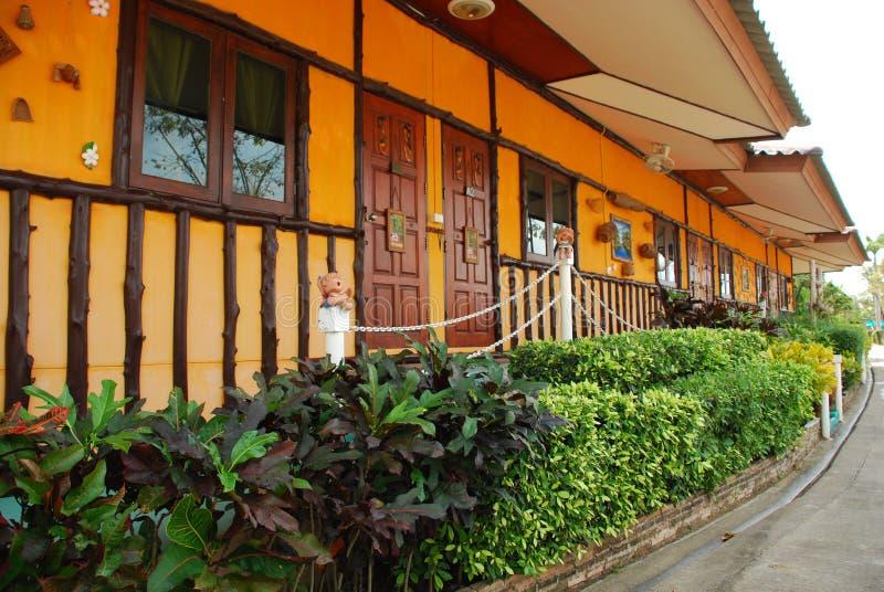 Bungalow Pattaya Thailand stockbilder