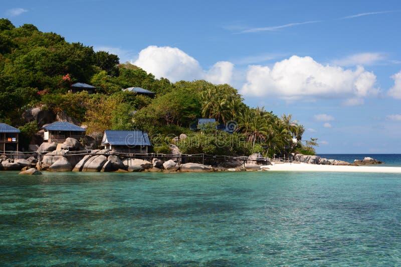 Bungalow plażą koh nang Juan koh Tao Tajlandia obraz stock