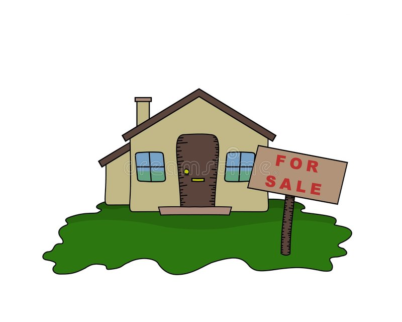 Bungalow for sale royalty free illustration