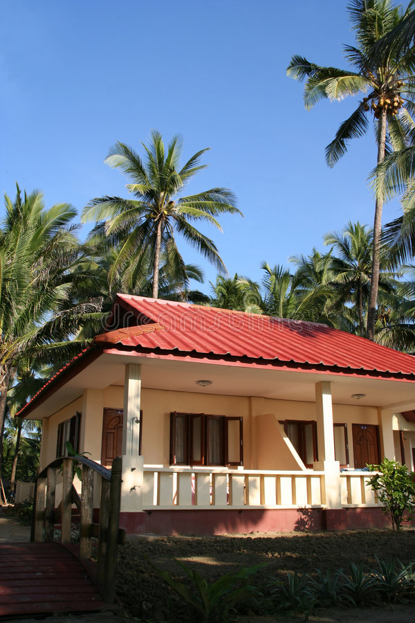 Bungalow tropical fotografia de stock