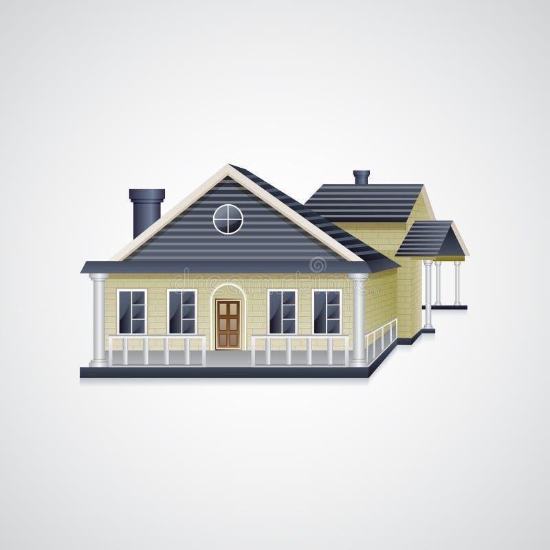 Bungalowhuis vector illustratie