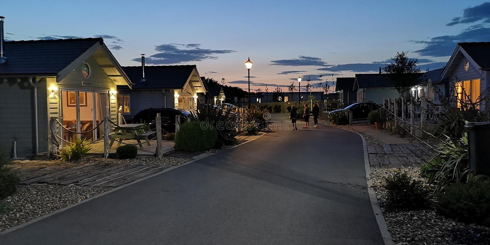 Bungalows at The Bay Filey royalty free stock photography