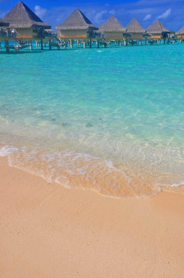 Bungalows de Overwater imagem de stock royalty free