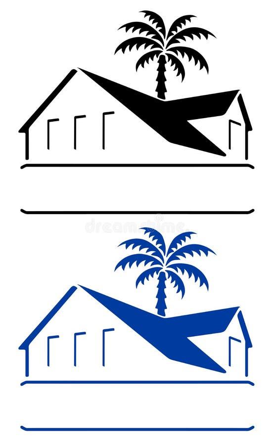 bungalowtecken royaltyfri illustrationer