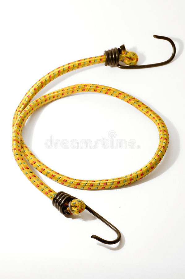 Bungee cord with hooks stock photos