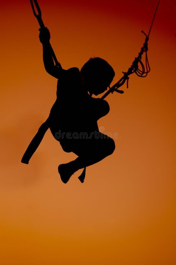 Bungee jump stock photos