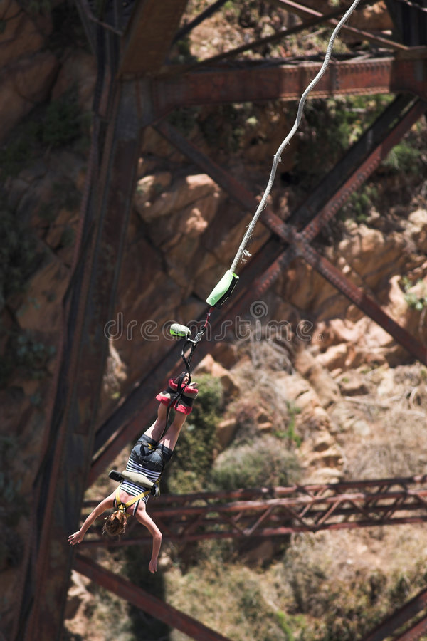Bungee jumper #1 royalty free stock photos