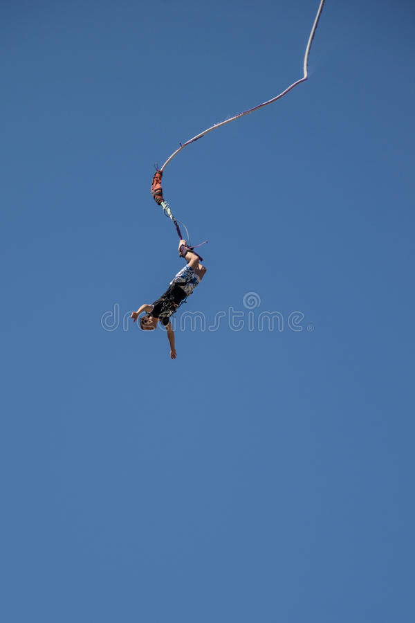 Bungee jumper stock photo