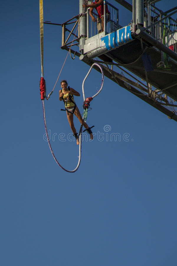 Download Bungee jumper editorial photo. Image of falling, danger - 26602721