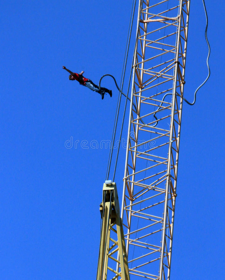 Bungee jumper royalty free stock photography