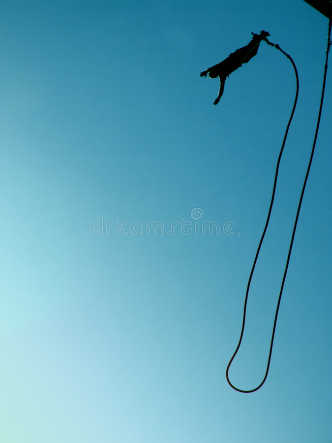 Bungee jumping 08 royalty free stock image
