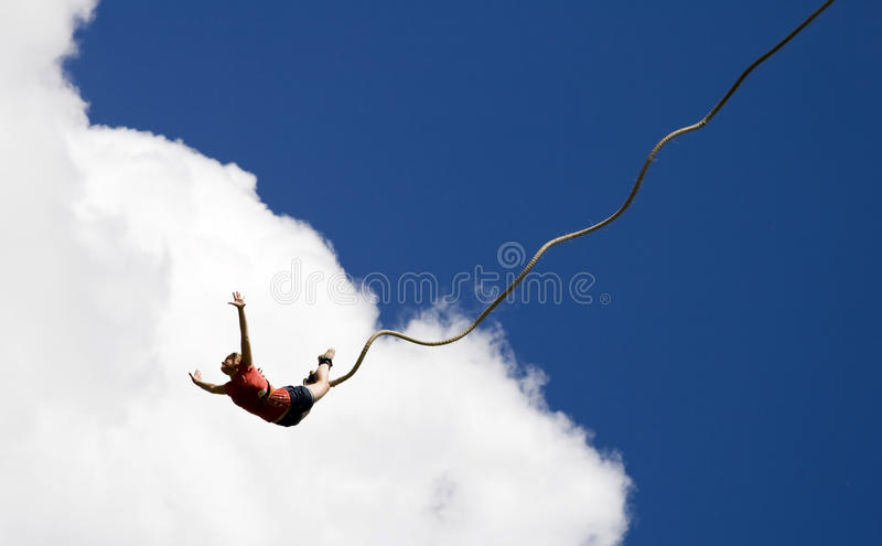 Bungee jumping stock images
