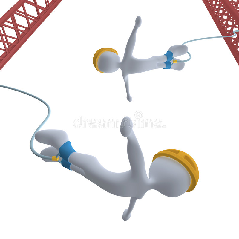 Bungee Jumping stock illustration