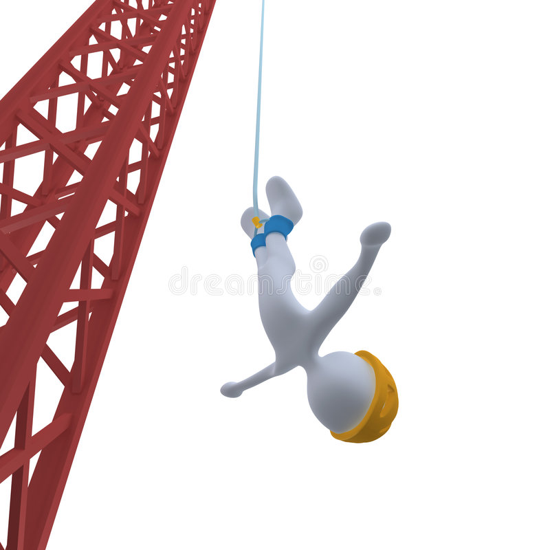 Bungee Jumping royalty free illustration
